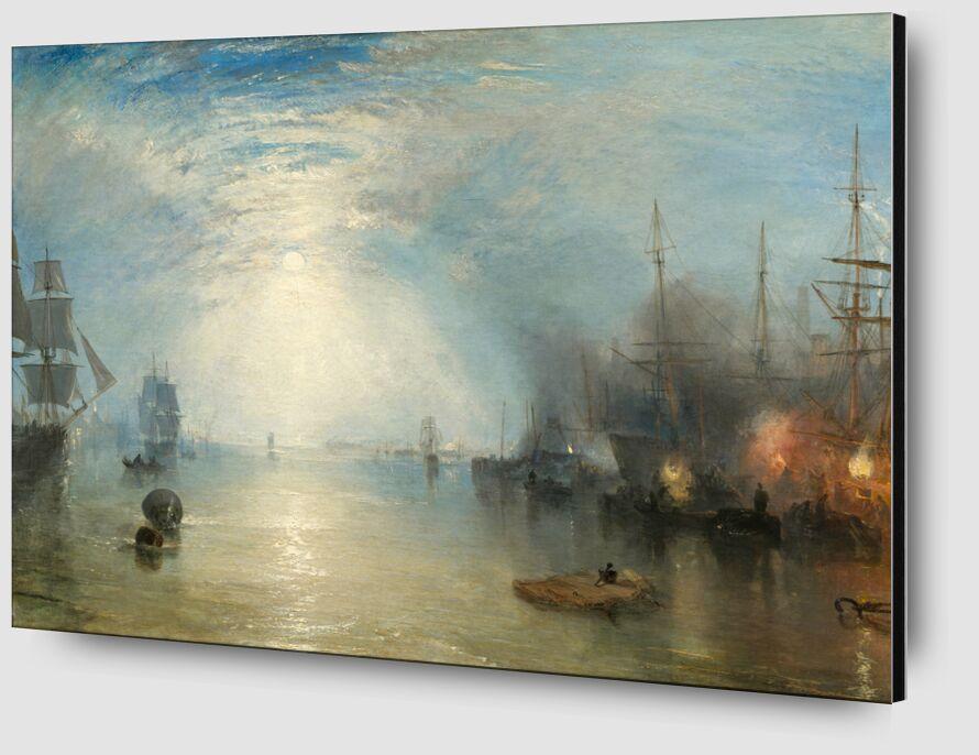 Keelmen Heaving in Coals by Moonlight - WILLIAM TURNER 1835 desde AUX BEAUX-ARTS Zoom Alu Dibond Image