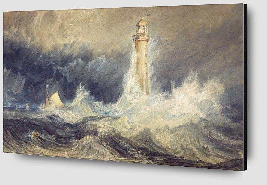 Bell Rock Lighthouse - WILLIAM TURNER 1824 desde AUX BEAUX-ARTS Zoom Alu Dibond Image