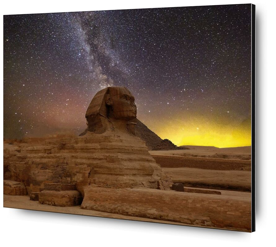 أبو الهول العظيم من الجيزة from Aliss ART, Prodi Art, religion, pyramids, milky way, great sphinx of giza, egypt, travel, temple, sunset, Sun, statue, stars, starry sky, space, sculpture, outdoors, nightsky, landscape, evening sky, evening, desert, daylight, dawn, dark, outer space, art, ancient