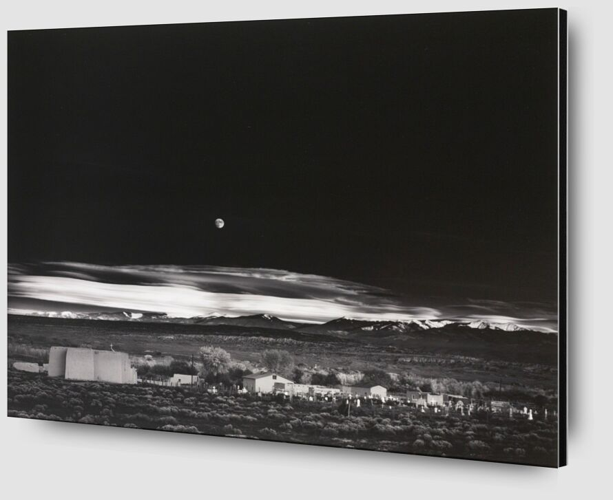 Moonrise over Hernandez New Mexico - Ansel Adams 1941 from Aux Beaux-Arts Zoom Alu Dibond Image