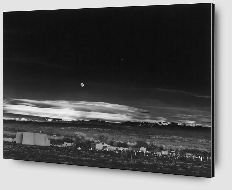 Moonrise over Hernandez New Mexico - Ansel Adams 1941 desde AUX BEAUX-ARTS Zoom Alu Dibond Image