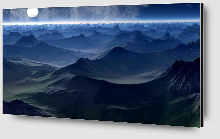 Mountain on sea from Aliss ART Zoom Alu Dibond Image