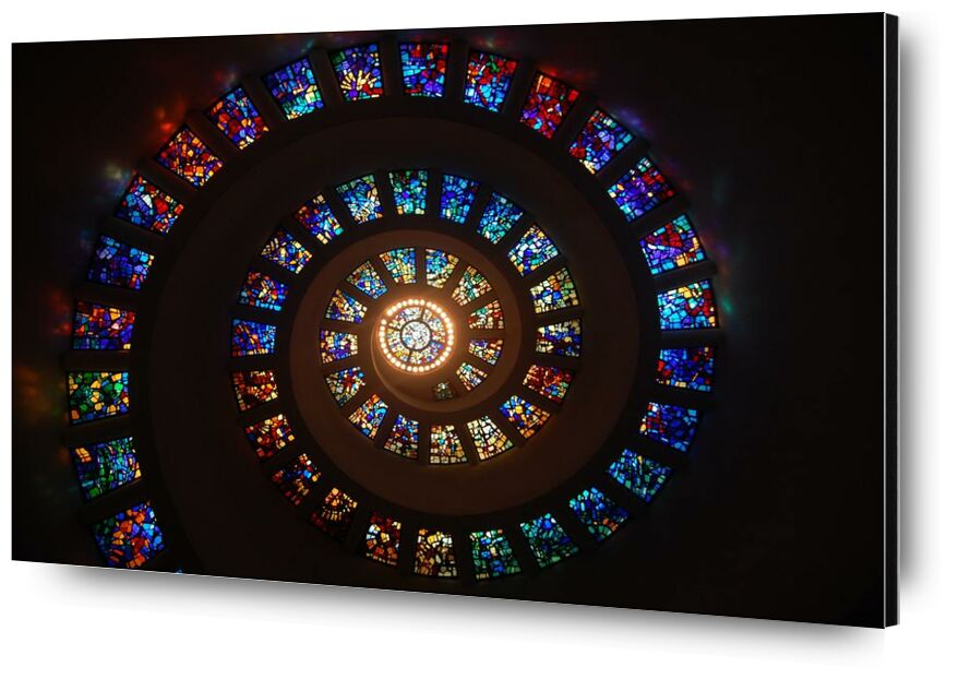 Vitrail from Aliss ART, Prodi Art, architecture, art, colorful, colourful, light, pattern, spiral, stained glass