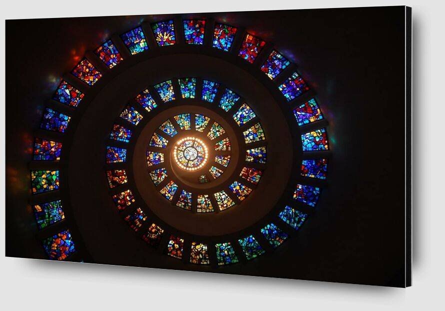 Stained glass from Aliss ART Zoom Alu Dibond Image