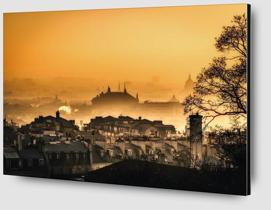 Capital under the fog from Aliss ART Zoom Alu Dibond Image