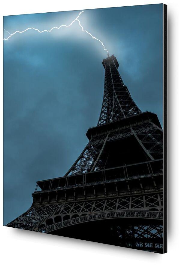 Coup de foudre à Paris de Aliss ART, Prodi Art, coup de foudre, Urbain, Voyage, la tour, gratte ciel, ciel, paris, en plein air, éclair, point de repère, haute, tour Eiffel, Ciel sombre, ville, architecture