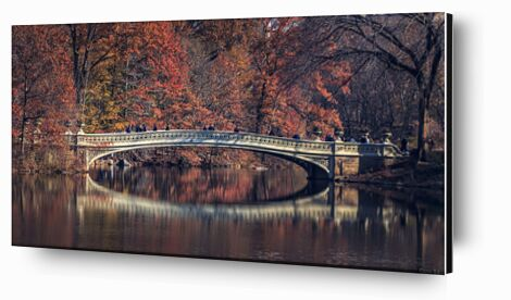Central Park - Bow Bridge de Caro Li, Prodi Art, Photographie d'art, Contrecollage aluminium, Prodi Art