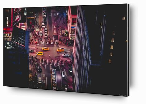 New-York by night de Caro Li, Prodi Art, Photographie d'art, Contrecollage aluminium, Prodi Art