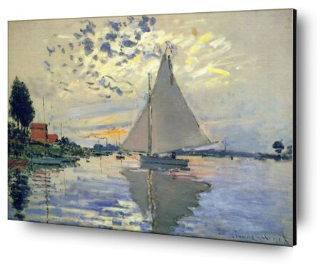 Sailboat at Le Petit-Gennevill... from AUX BEAUX-ARTS, Prodi Art, Art photography, Mounting on aluminium, Prodi Art