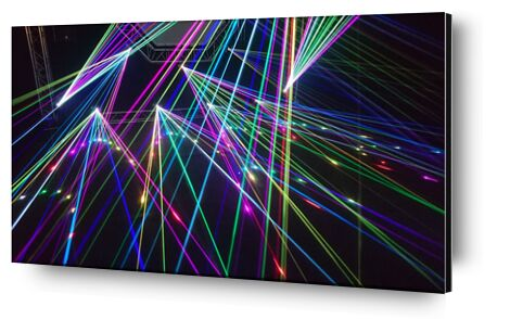 The laser show from Pierre Gaultier, Prodi Art, Art photography, Aluminum mounting, Prodi Art