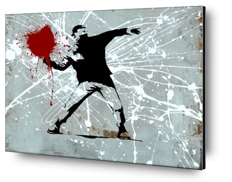 Painted heart Thrower - BANKSY from AUX BEAUX-ARTS, Prodi Art, Art photography, Mounting on aluminium, Prodi Art