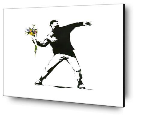 Flower Chucker - BANKSY from AUX BEAUX-ARTS, Prodi Art, Art photography, Mounting on aluminium, Prodi Art