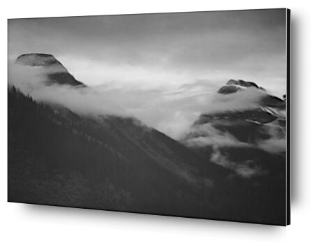 Mountain Partially Covered Wit... from AUX BEAUX-ARTS, Prodi Art, Art photography, Mounting on aluminium, Prodi Art