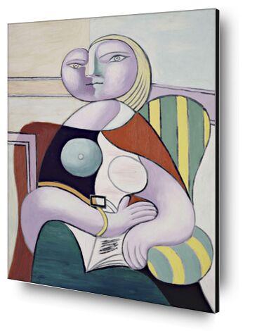 Woman Reading - Picasso from AUX BEAUX-ARTS, Prodi Art, Art photography, Mounting on aluminium, Prodi Art