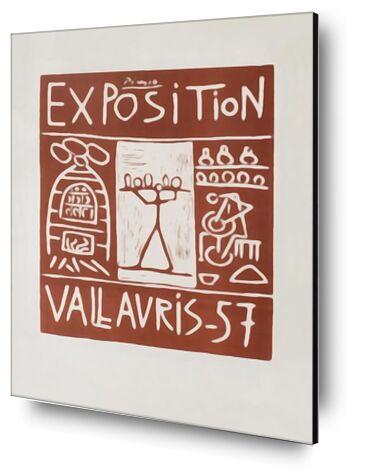 Poster 1957 - Exhibition Valla... from AUX BEAUX-ARTS, Prodi Art, Art photography, Mounting on aluminium, Prodi Art