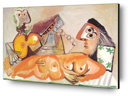 Reclining Nude and Musician - ... from AUX BEAUX-ARTS, Prodi Art, Art photography, Mounting on aluminium, Prodi Art