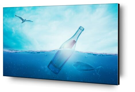 A bottle in the sea from Pierre Gaultier, VisionArt, Art photography, Aluminum mounting, Prodi Art
