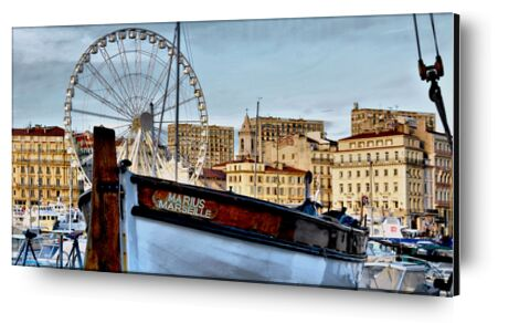 Marseille vieux port Marius de Frédéric Traversari, Prodi Art, Photographie d'art, Contrecollage aluminium, Prodi Art