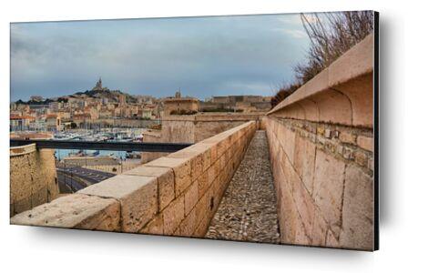 Marseille depuis le fort Saint... de Frédéric Traversari, Prodi Art, Photographie d'art, Contrecollage aluminium, Prodi Art