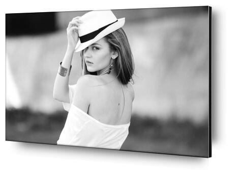 Woman and her hat from Pierre Gaultier, Prodi Art, Art photography, Aluminum mounting, Prodi Art
