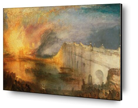 The Burning of the Houses of Lords and Commons - WILLIAM TURNER 1834 from Aux Beaux-Arts, Prodi Art, Art photography, Aluminum mounting, Prodi Art