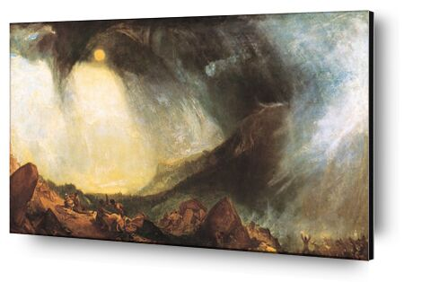 Snow Storm: Hannibal and his army crossing the Alps - WILLIAM TURNER 1812 from Aux Beaux-Arts, Prodi Art, Art photography, Aluminum mounting, Prodi Art