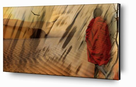 The march of Maasai from Adam da Silva, Prodi Art, Art photography, Aluminum mounting, Prodi Art