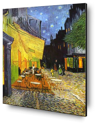 The Café Terrace on the Place du Forum, Arles, at Night - VINCENT VAN GOGH 1888 from Aux Beaux-Arts, Prodi Art, Art photography, Aluminum mounting, Prodi Art