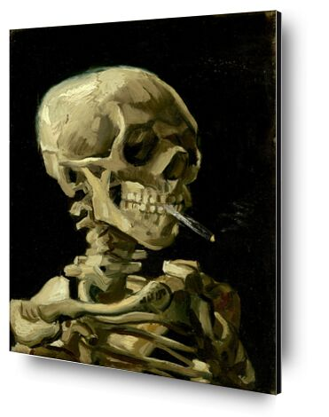Head of a Skeleton with a Burning Cigarette - VINCENT VAN GOGH from Aux Beaux-Arts, Prodi Art, Art photography, Aluminum mounting, Prodi Art