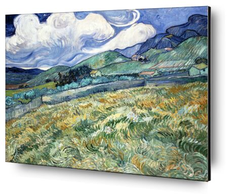 Landscape at Saint-Rémy - VINCENT VAN GOGH 1889 from Aux Beaux-Arts, Prodi Art, Art photography, Aluminum mounting, Prodi Art