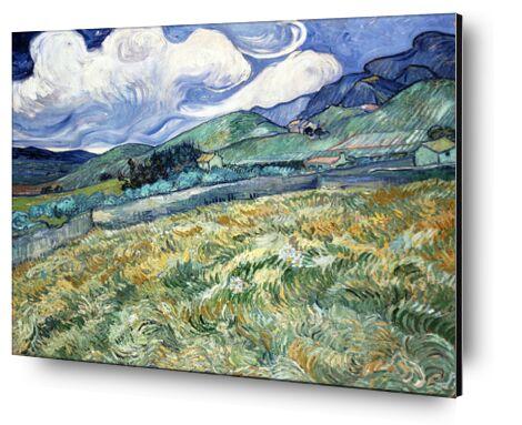 Champ de blé sur fond de montagnes - VINCENT VAN GOGH 1889 de Aux Beaux-Arts, Prodi Art, Photographie d'art, Contrecollage aluminium, Prodi Art