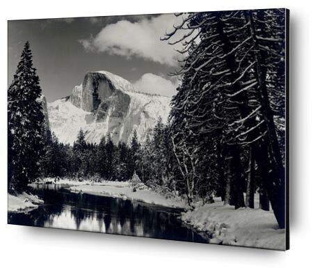 Half dome merced river winter Yosemite ANSEL ADAMS 1938 from Aux Beaux-Arts, Prodi Art, Art photography, Aluminum mounting, Prodi Art