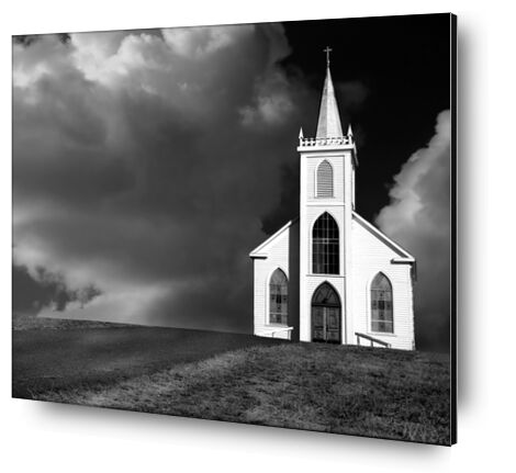Church picture, ANSEL ADAMS - 1937 from Aux Beaux-Arts, VisionArt, Art photography, Aluminum mounting, Prodi Art