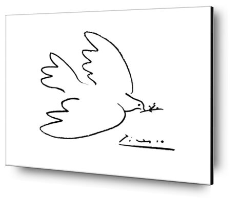 Dove of peace - PABLO PICASSO from Aux Beaux-Arts, Prodi Art, Art photography, Aluminum mounting, Prodi Art