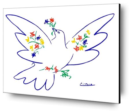 Dove of peace - PABLO ICASSO from Aux Beaux-Arts, Prodi Art, Art photography, Aluminum mounting, Prodi Art