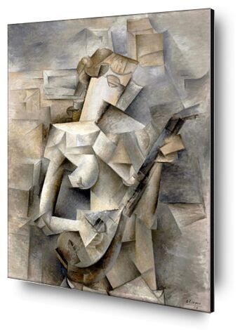 Girl with a Mandolin - Pablo Picasso 1910 from Aux Beaux-Arts, Prodi Art, Art photography, Aluminum mounting, Prodi Art