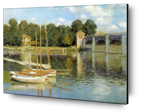 The Argenteuil Bridge - CLAUDE MONET 1874 from Aux Beaux-Arts, VisionArt, Art photography, Aluminum mounting, Prodi Art