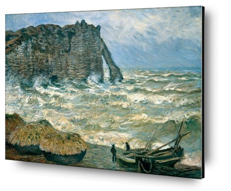 Stormy Sea in Étretat - CLAUDE MONET 1883 from Aux Beaux-Arts, VisionArt, Art photography, Aluminum mounting, Prodi Art