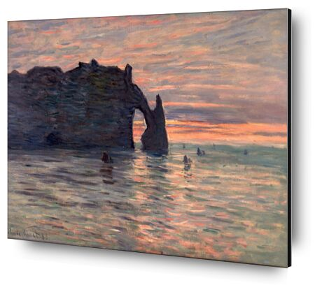 Soleil couchant à Étretat - CLAUDE MONET 1883 de Aux Beaux-Arts, Prodi Art, Photographie d'art, Contrecollage aluminium, Prodi Art