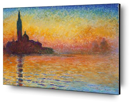 San Giorgio Maggiore at Dusk - CLAUDE MONET from Aux Beaux-Arts, VisionArt, Art photography, Aluminum mounting, Prodi Art