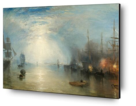 Keelmen Heaving in Coals by Moonlight - WILLIAM TURNER 1835 from Aux Beaux-Arts, Prodi Art, Art photography, Aluminum mounting, Prodi Art