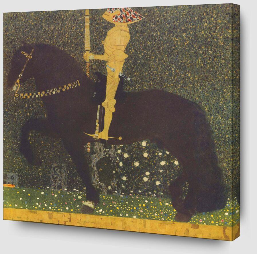 La vie est un combat (Le Chevalier d'or) 1903 - Gustav Klimt de AUX BEAUX-ARTS Zoom Alu Dibond Image