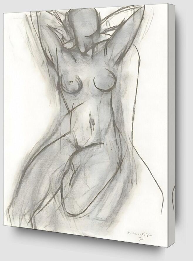 Nu dans Un Fauteuil, 1950 - Henri Matisse de AUX BEAUX-ARTS Zoom Alu Dibond Image