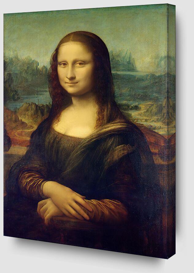 La Joconde -  Léonard de Vinci de AUX BEAUX-ARTS Zoom Alu Dibond Image