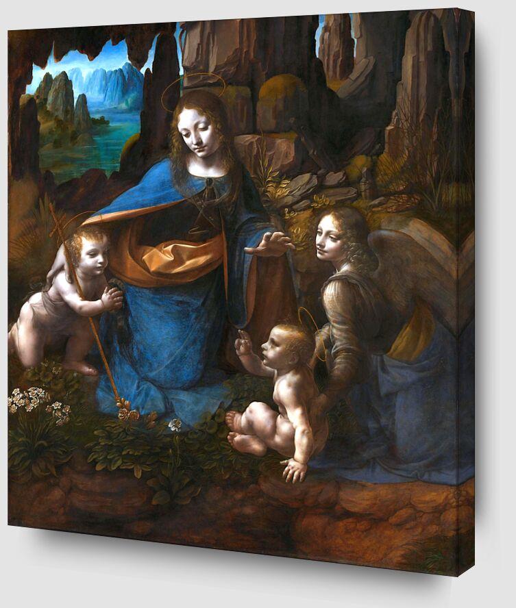 La Vierge des Rochers - Léonard de Vinci de AUX BEAUX-ARTS Zoom Alu Dibond Image