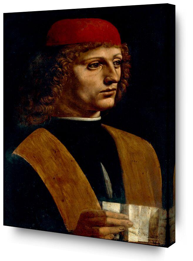 Portrait d'un musicien - Léonard de Vinci de AUX BEAUX-ARTS, Prodi Art, Leonard de Vinci, musique, portrait, musicien