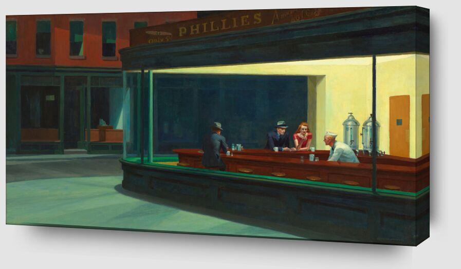 Nighthawks - Edward Hopper de AUX BEAUX-ARTS Zoom Alu Dibond Image