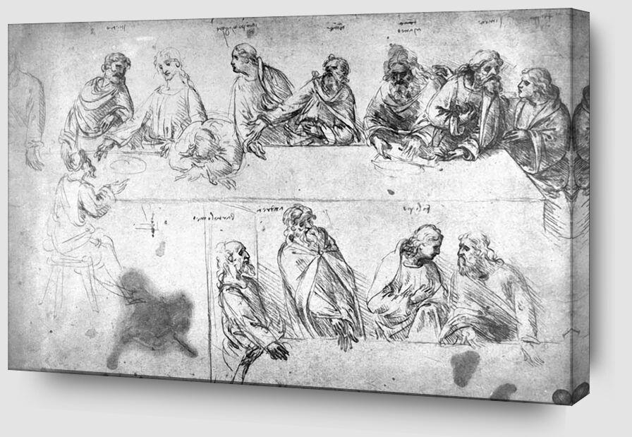 Dessin Préparatoire de la Cène - Léonard de Vinci de AUX BEAUX-ARTS Zoom Alu Dibond Image