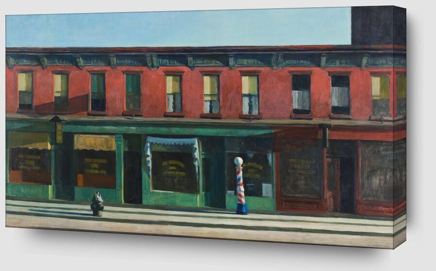 Tôt le Dimanche Matin - Edward Hopper de AUX BEAUX-ARTS Zoom Alu Dibond Image