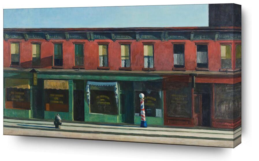 Tôt le Dimanche Matin - Edward Hopper de AUX BEAUX-ARTS, Prodi Art, Edward Hopper, rue, peinture, New York, magasins